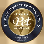 Selo de melhor crematório de animais do Mundo, segundo a Miami Funer.